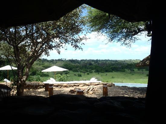 Singita Faru Faru Lodge: View while eating ALL meals