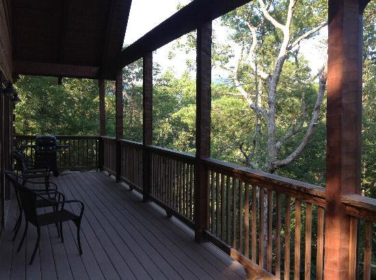Dogwood Cabins at Trillium Cove: The deck view