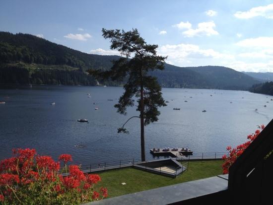 Treschers Schwarzwald Romantik Hotel : Blick vom Balkon über Apartment/zweites OG