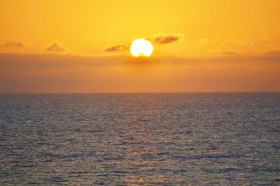 South Carlsbad State Beach: Typical Sunset over South Carlsbad Beach (Ponto)