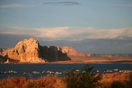 View of Lake Powell from Wahweap Campground