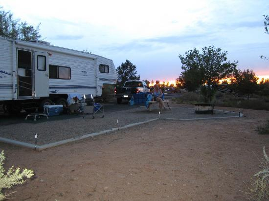 Our campsite at Wahweap Campground