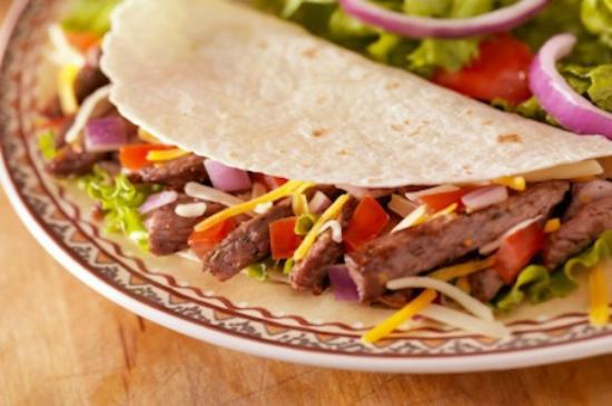 Savories Catering: Soft shell beef taco
