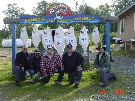 Rod 'N Real Kenai Riverfront Cabins: Great Halibut Fishing.