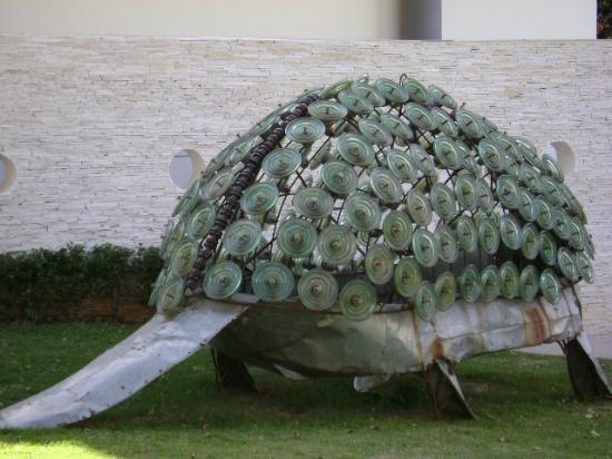 Natural Sciences Museum: Tatu gigante no jardim