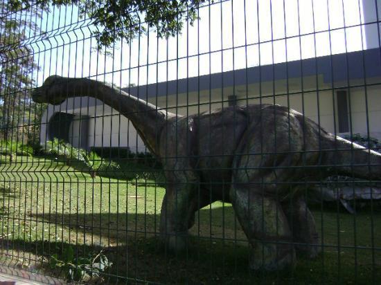 Natural Sciences Museum: Escultura de Dinossauro na entrada