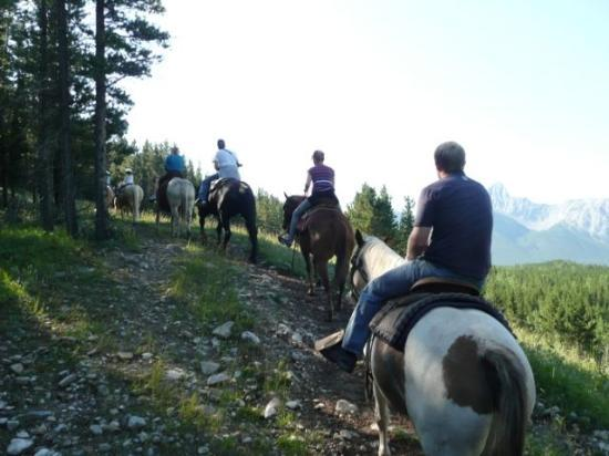 Boundary Ranch: Up hill on the trail