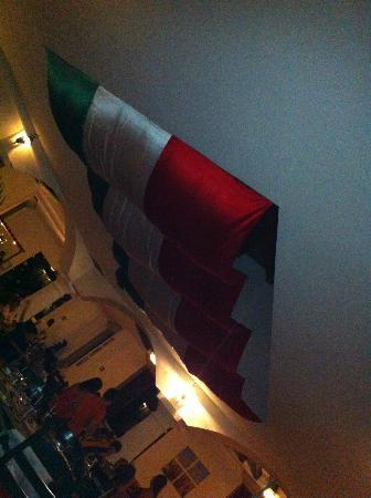 The Mexican Flag in the dining room