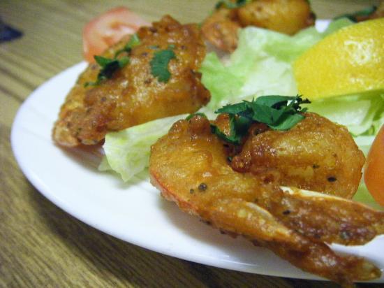 Punjab Cafe: Shrimp Pakoras