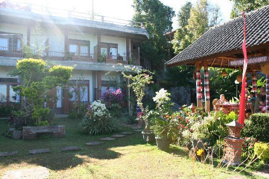 Karangsari Guest House: L'hôtel vue du fon du jardin