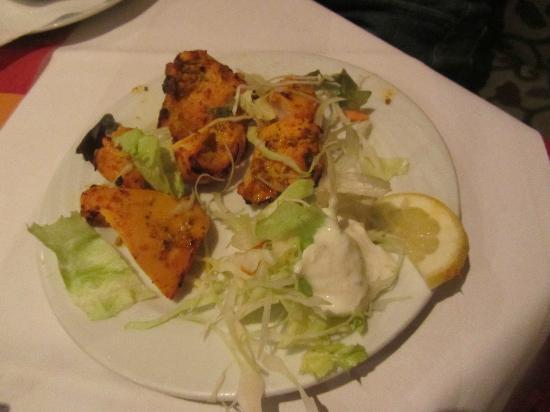 Sitar : Curryhähnchen als Vorspeise