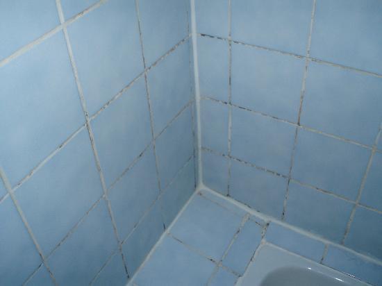 Manoir de la Grande Mettrie : les joints de la cabine de douche