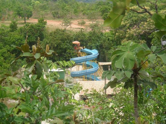 Goias: Vista aérea do Clube do Balneário a partir do Mirante que também tem uma bela vista para a Serra