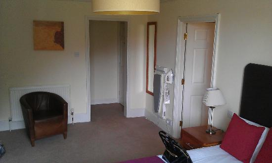 Crown Inn: Room entrance. iron and trouser press