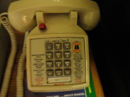 Super 8 Chadron: Old Super 8 phones in room