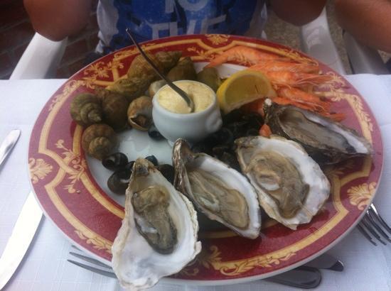 Auberge du Bac: voorgerecht fruit de mer