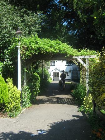 The Three Salmons: The back entrance, looking from the car park