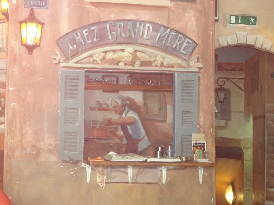 Chez Grand Mere: Pintura do Restaurante