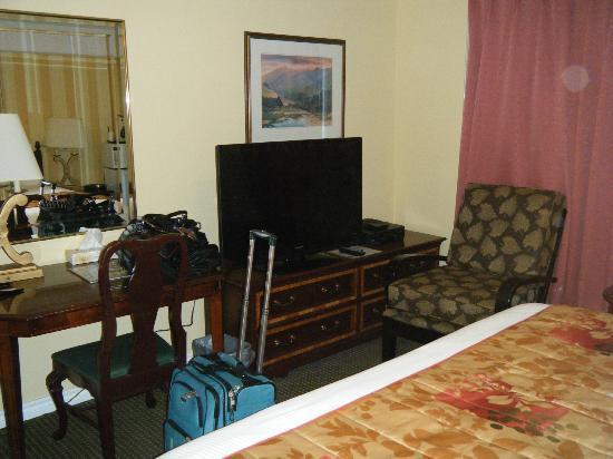 Arbutus Inn : TV And Desk Chair