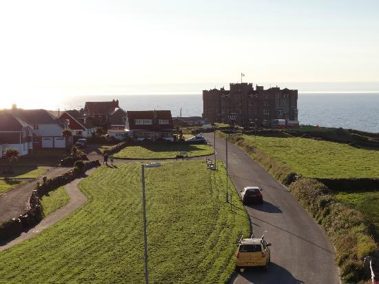 Pendrin House: View to Camelot Castle Hotel