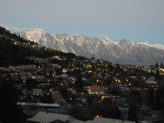 The Remarkables from Reavers Lodge balcony