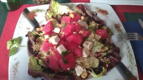 Restaurante Poseidon: insalata anguria,pinoli,feta e menta