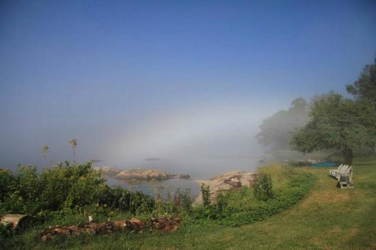 Oakland House Cottages by the Side of the Sea: Once upon a dream....rainbow at Herricks Landing, Maine.