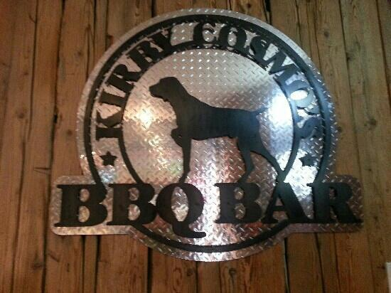 Kirby Cosmo's BBQ Bar: on the inside wall