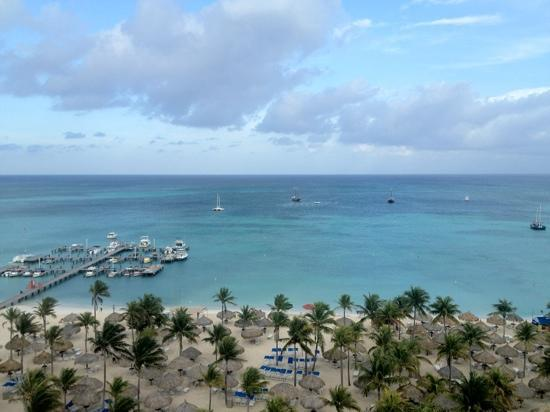 Marriott's Aruba Surf Club: view from 10th story oceanfront villa