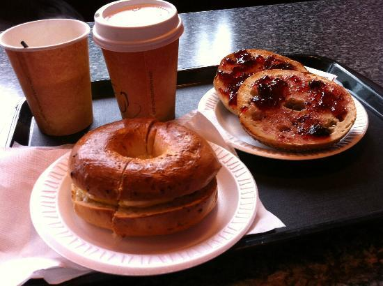 Downtown Deli: what we ordered - bagels and coffee