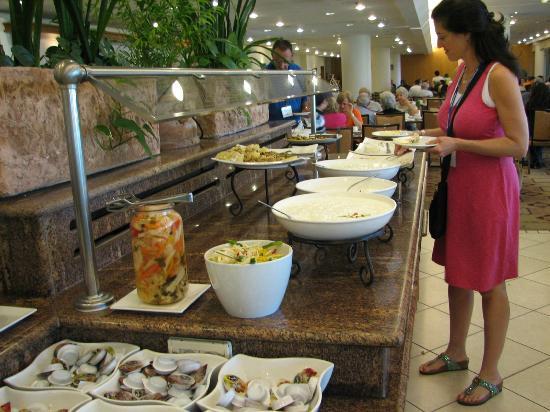 Breakfast Buffet, Kibbutz Lavi Hotel, Tiberias, Israel