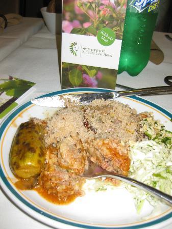 Buffet Dinner, Kibbutz Lavi Hotel, Tiberias, Israel