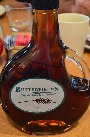 Butterfield's Pancake House : Pancake Syrup