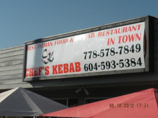 Chef's Kebab : exterior signaage