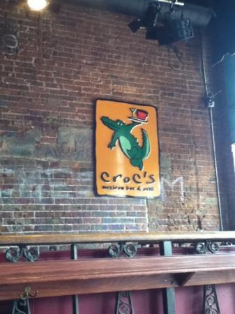 Croc's Mexican Grill : names on bricks cool