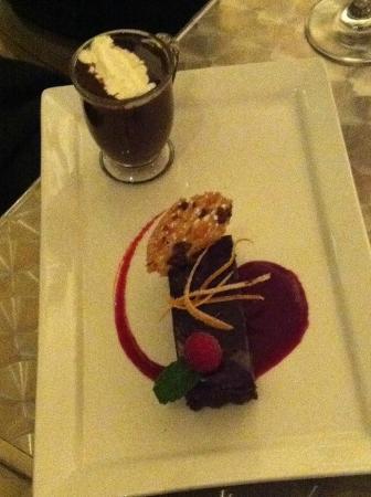 Bon Vivant: Brownie & Hot Chocolate--perfect combo.