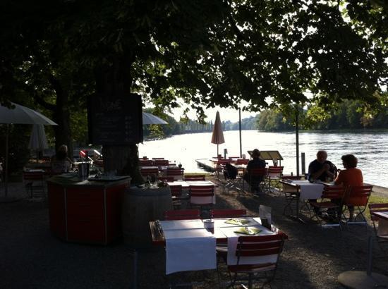 Seminarhotel Unterhof am Rhein: Gartenrestaurant