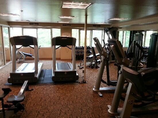 Residence Inn Seattle Downtown/Lake Union : gym located next to the pool