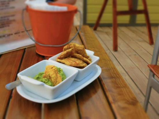 The Landing Restaurant & Bar: plantains and guacamole