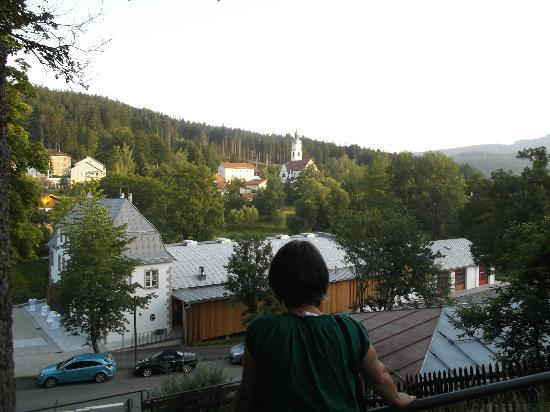 Gaestehaus am Berg: view over Bayerisch Eisenstein