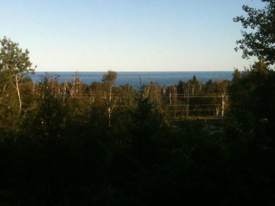 Superior Ridge Resort Motel: From the suite's deck, view of Lake Superior