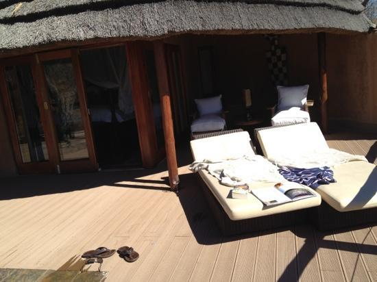 Royal Madikwe Luxury Safari Lodge: The private room deck (and this only shows a third of it)!