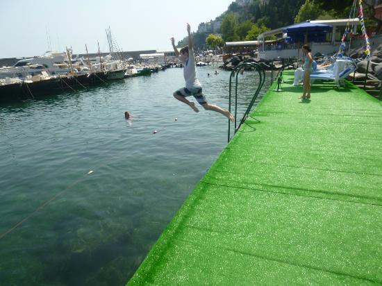 Hotel la Bussola: Swimming Platform