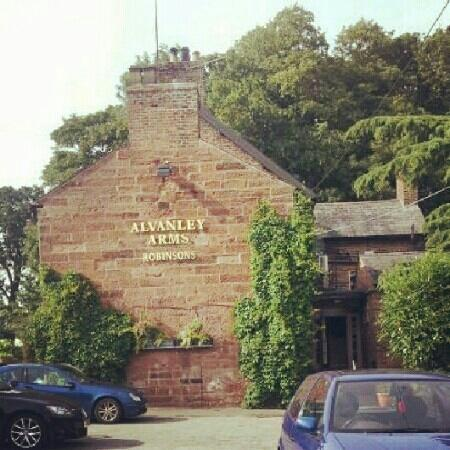 Alvanley Arms Inn: View from the car park