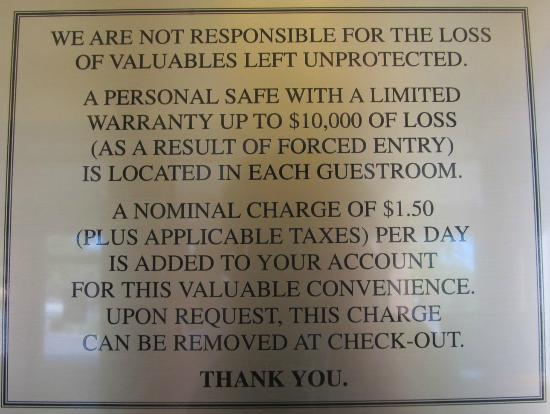 Check your bill for that surcharge! ... Quality Inn, Klamath Falls