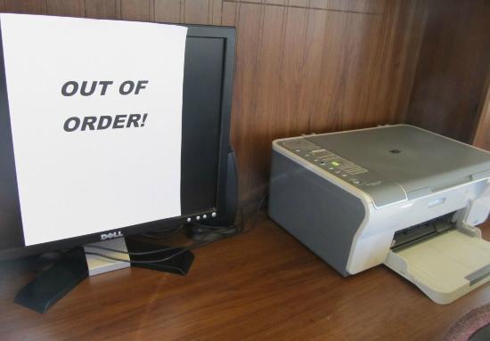 No computer for you ... Quality Inn, Klamath Falls
