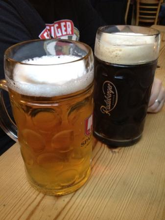 Suppenkuche: beer by the litre...also available in das boot!