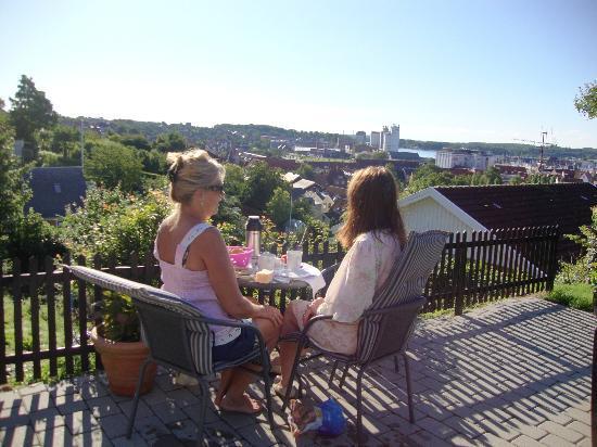 Svendborg, Danmark: Morgenmat på terrassen