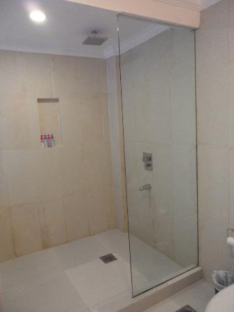 Erus Suites Hotel: shower
