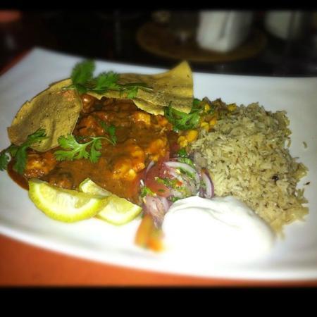 Sails Beach Bar & Restaurant: Curry de crevette